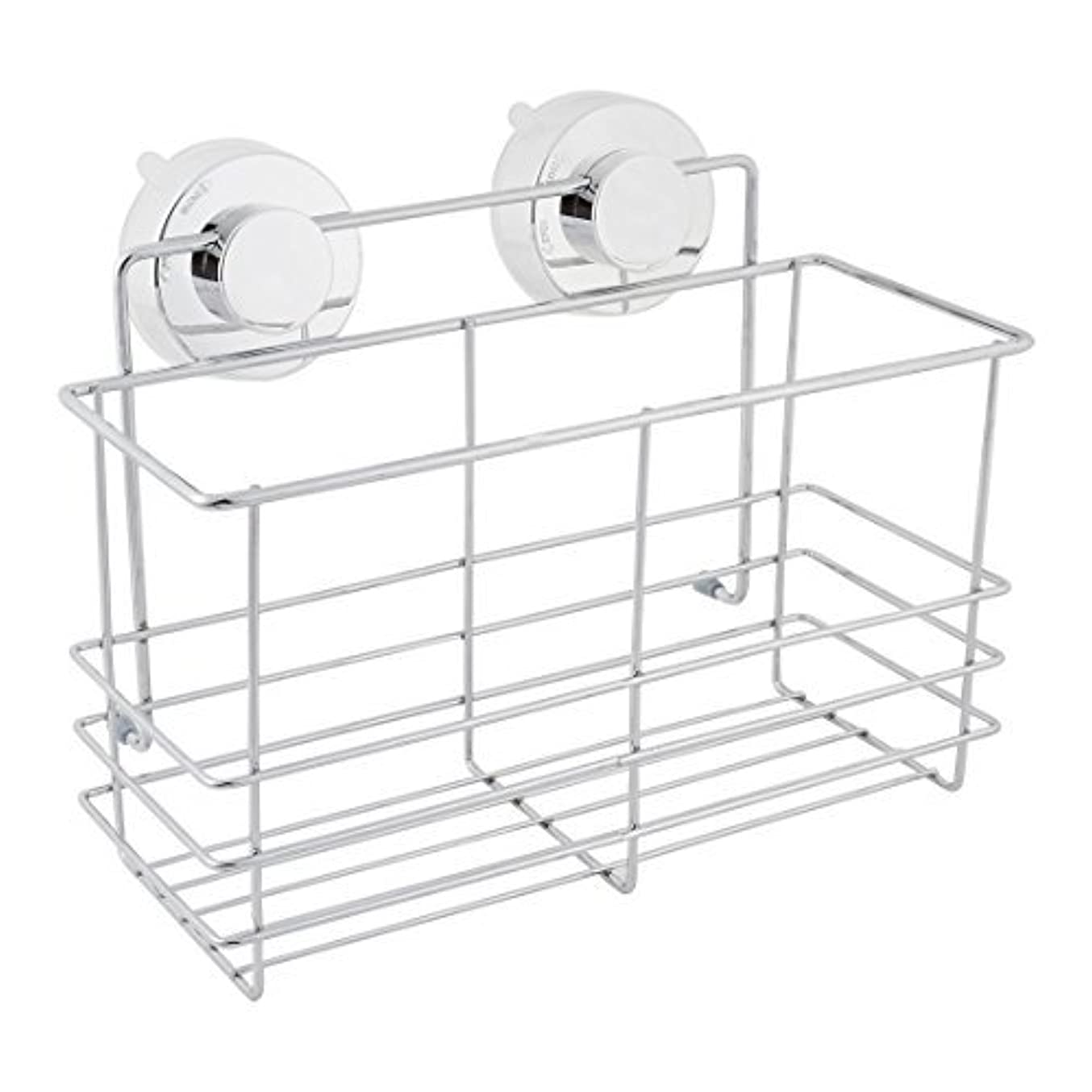 定義衝突カウンタDealMux浴室スペースセーバーサクションカップのストレージシェルフホルダーラックオーガナイザー