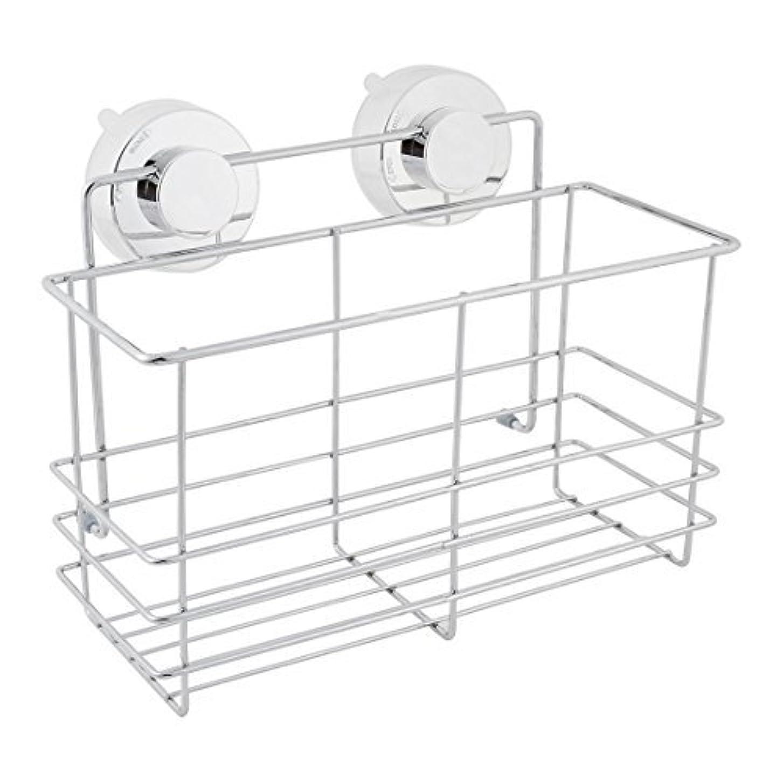 DealMux浴室スペースセーバーサクションカップのストレージシェルフホルダーラックオーガナイザー