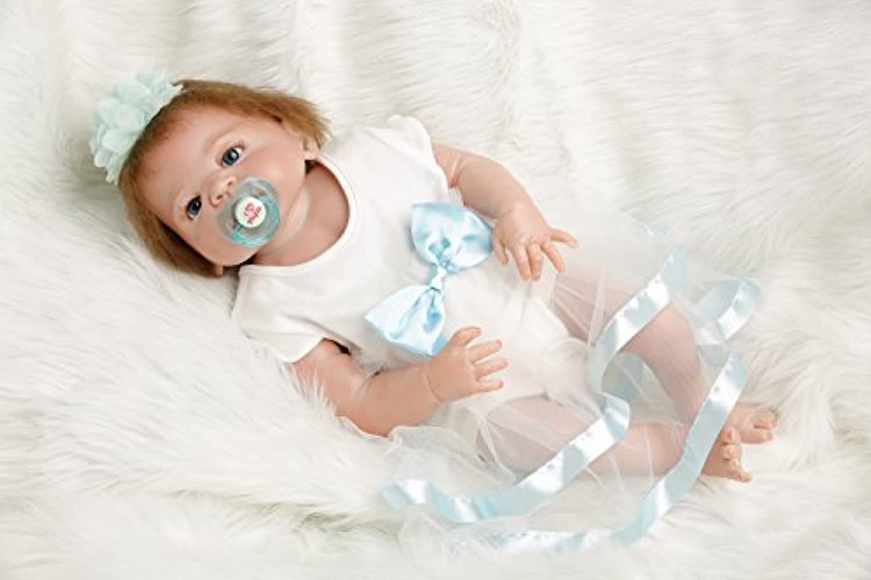 SanyDoll Rebornベビー人形ソフトSilicone 22インチ55 cm磁気Lovely Lifelike Cute Lovely Baby b0763lj8 X V