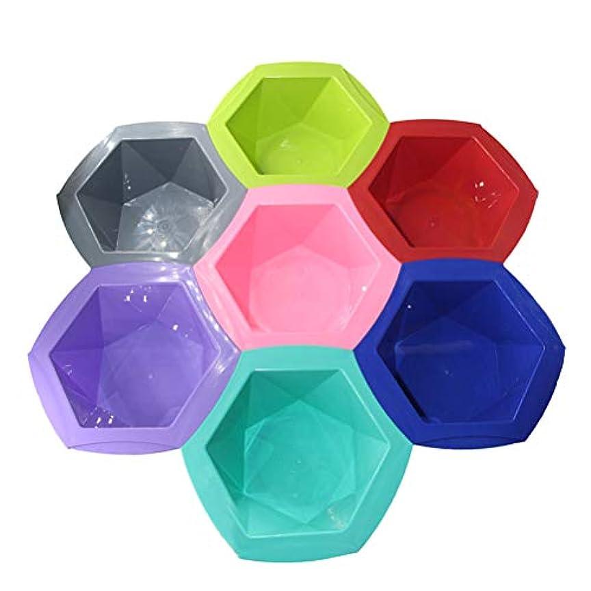 いくつかの虹普及Healifty ヘアカラーボールヘアオイルツール7本(混合色)