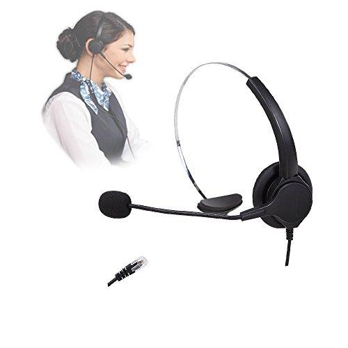[해외]VINSOO 핸즈프리 콜센터 노이즈 캔슬링 4 핀 RJ9 크리스탈 헤드가있는 업무용 책상 전화 용 무선 모노 헤드셋 헤드폰/VINSOO Hands-free call center Noise canceling 4-pin RJ9 Desk with crystal head Cordless mono headset for phone Phone head...