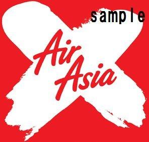 航空ステッカー エアアジアX 防水紙シール~スーツケースドレスアップに