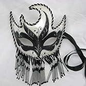【コスプレ】仮面舞踏会 ブラック&シルバー マスカレードマスク