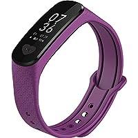 スマートブレスレット心拍数血圧計ECG多機能スポーツウォッチ歩数計ユニバーサル防水血圧測定健康パルスワンボタン操作ECG + PPG (Color : Purple)