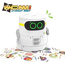 REMOKING STEM Educational Robot Toy,Dance,Sing, Guess Card Game, Speak Like You, Touch Control,Recorder,Interactive Kids Learning Partner,Smart Robot Gifts for Kids(White)
