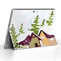 Surface go 専用スキンシール サーフェス go ノートブック ノートパソコン カバー ケース フィルム ステッカー アクセサリー 保護 その他 雪 冬 001500