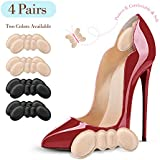 Famel Heel Grips - Heel Pads for Women and Men's Shoes - Reusable Heel Cushion Inserts for Loose Shoes (Pack of 4 Pairs)