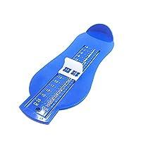 DC ベビーフットメジャー 測定ツール サイズ測定 靴フィッティング シューズメジャー 靴メジャー 足メジャー 測定器(青い)