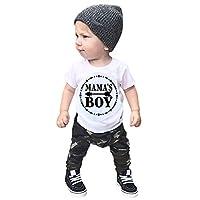 洋子ちゃん ベビー服 女の子 赤ちゃん 男の子 子供服 子供用 アルファベット半袖Tシャツ+迷彩パンツ 2点セット 70 80 90 100 110 0ヶ月-2歳