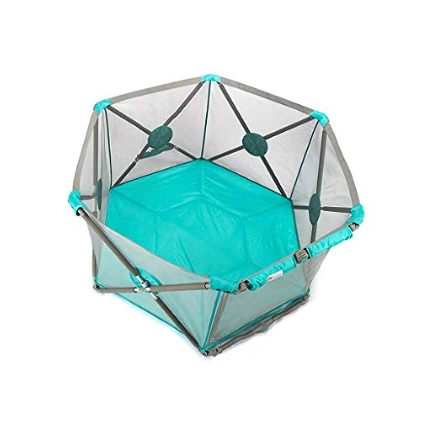 全能実行する表向き育児 ベビーゲート 赤ん坊の塀の安全ベビーサークルボールピットのプール、通気性の網が付いている安全で容易な折り畳み式の自由な設置ベビーサークル ベビーフェンス (Color : A)