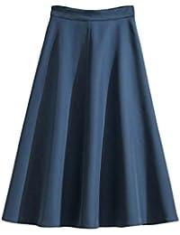 ulricarスカート フレア ひざ丈 Aライン ふんわり オールシーズン ストレッチ レディース シンプル きれいめ ファッション S M L XL サイズ