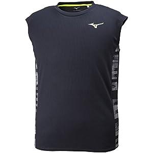 (ミズノ) MIZUNO(ミズノ) 陸上ウェア ノースリーブシャツ [メンズ] U2MA8012 94 ブラック×セーフティイエロー M