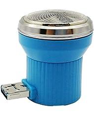 旅行用かみそり用ミニかみそりUSB携帯電話多機能ポータブル電気メンズかみそり(ブルー)