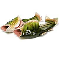 OMAS Tricky Fish Creative Fish Slippers Beach Sandal White Simulation Fish Beach Slippers Shoes(China Size 44)