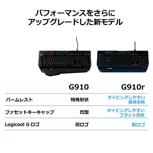 『Logicool G ゲーミングキーボード G910r ブラック メカニカルキーボード タクタイル 日本語配列 RGB パームレスト G910 Spectrum 国内正規品 2年間メーカー保証』の8枚目の画像