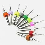 超硬 PCB ドリルビット CNC 切削用 タングステンカーバイト 10pcs ( エッジ径 0.30 - 1.20MM 各1本 )