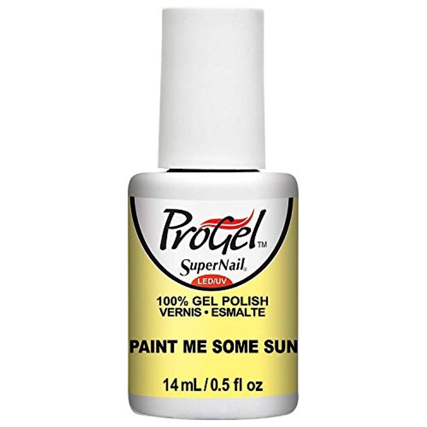 道徳教育シミュレートする今晩SuperNail ProGel Gel Polish - Paint Me Some Sun - 0.5oz / 14ml
