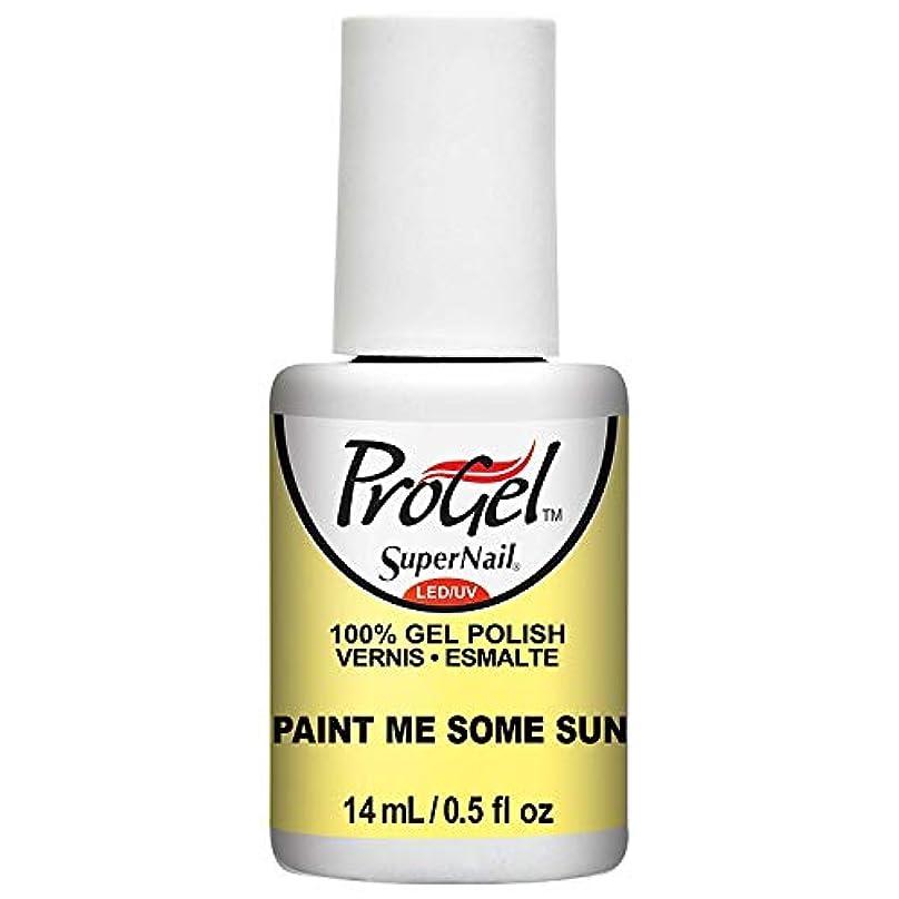 おしゃれじゃないハングからに変化するSuperNail ProGel Gel Polish - Paint Me Some Sun - 0.5oz / 14ml