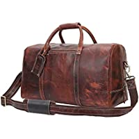 Leather Travel Duffel Bag Overnight Weekend Luggage Carry On Underseat  Airplane b5e6fee0fa214