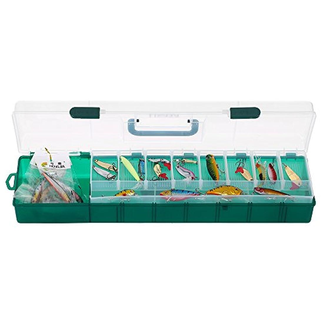 分注する無礼に邪魔するLixada タックルボックス,釣りルアー ボックス 2層 S/Lサイズ