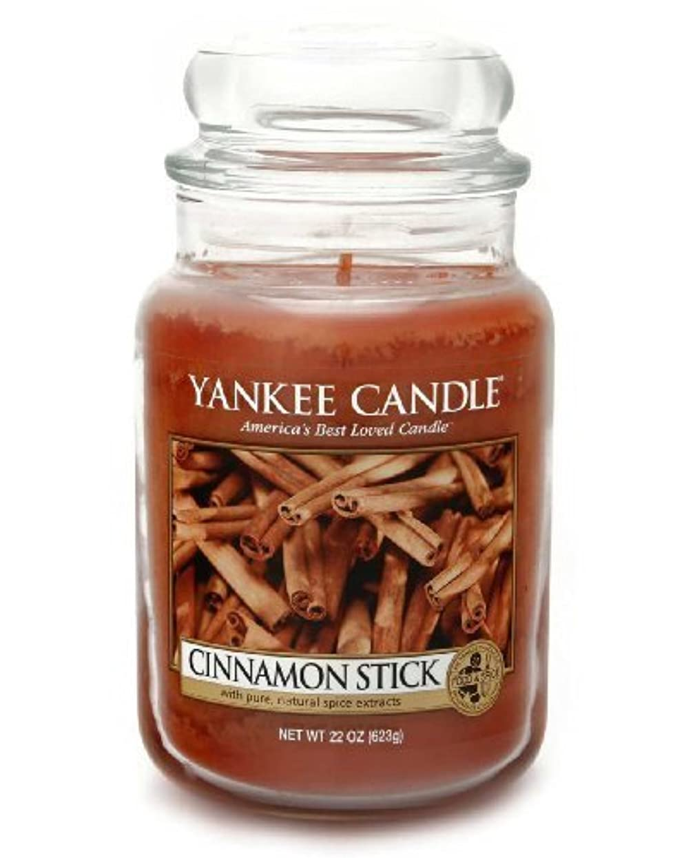 服を着る発動機付与Yankee Candle Large 22-Ounce Jar Candle, Cinnamon Stick by Amazon source [並行輸入品]