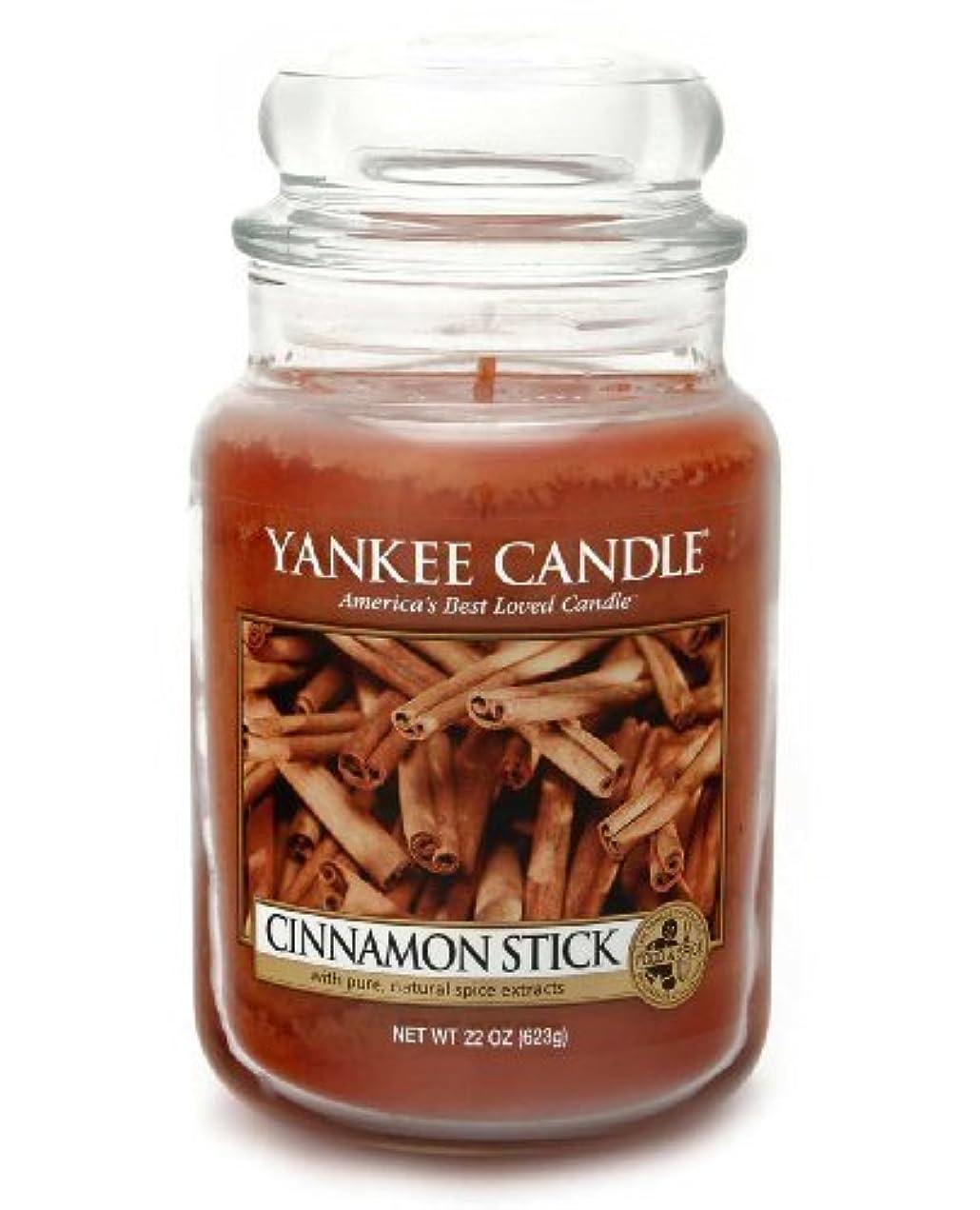 フォージ震える服を洗うYankee Candle Large 22-Ounce Jar Candle, Cinnamon Stick by Yankee Candle [並行輸入品]