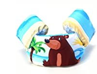 Canis インフレータブル 子供用 スイムベスト 幼児・子供用浮き輪 練習用 スイムアームバンド 10色 (くま)