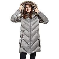 svacuam Women's Heavy Padded Winter Parka Winter Thicken Puffer Coat with Faux Fur Hood
