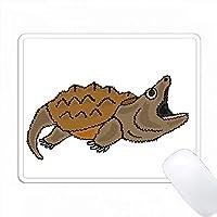 面白いスナッピングタートルオリジナルアート PC Mouse Pad パソコン マウスパッド