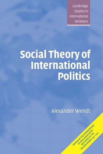 Social Theory of International Politics (Cambridge Studies in International Relations)の詳細を見る