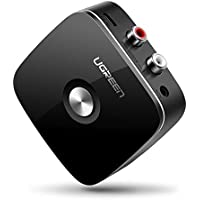 UGREEN Bluetooth レシーバー オーディオレシーバー 3.5mm RCA ブルートゥース受信機 AAC EDR対応 ワイヤレス 高音質再生 iPhone Android 古いコンポ 車載AUX スピーカー等に適用