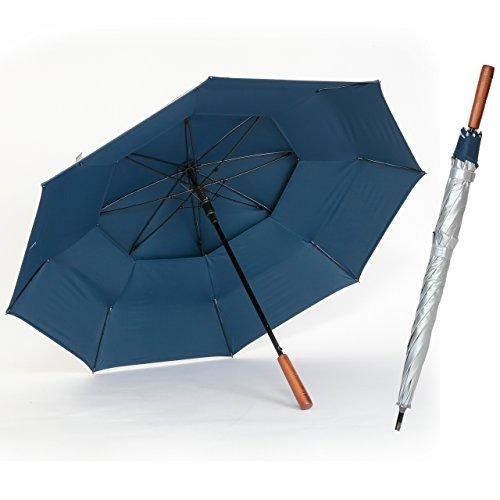 日傘 ゴルフ傘 メンズ UVカット 晴雨兼用 遮光 遮熱 強風対応 ジャンプ傘 70cm ひんやり傘【LIEBEN-0195】