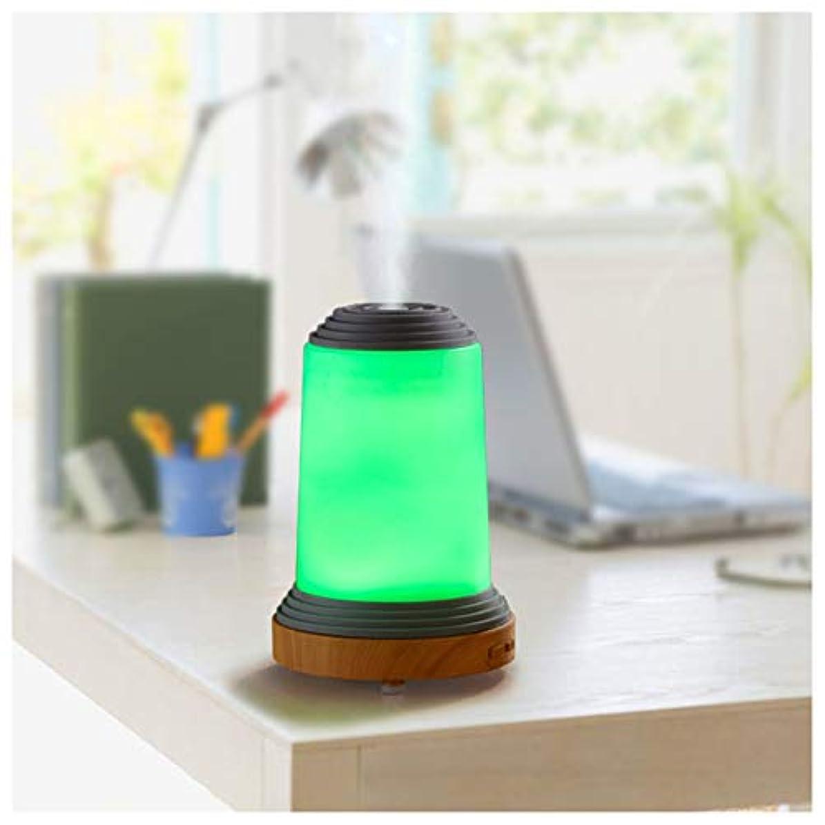 薄暗い丈夫用心するエッセンシャルオイルディフューザー超音波アロマディフューザー、100ミリリットルユニークな灯台形状加湿器、7色LEDライト、ウォーターレス自動閉鎖、ヨガ、オフィス、スパ、寝室