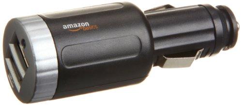Amazonベーシック 「2ポートUSBカーチャージャー(2.1アンペア充電可能)」が750円