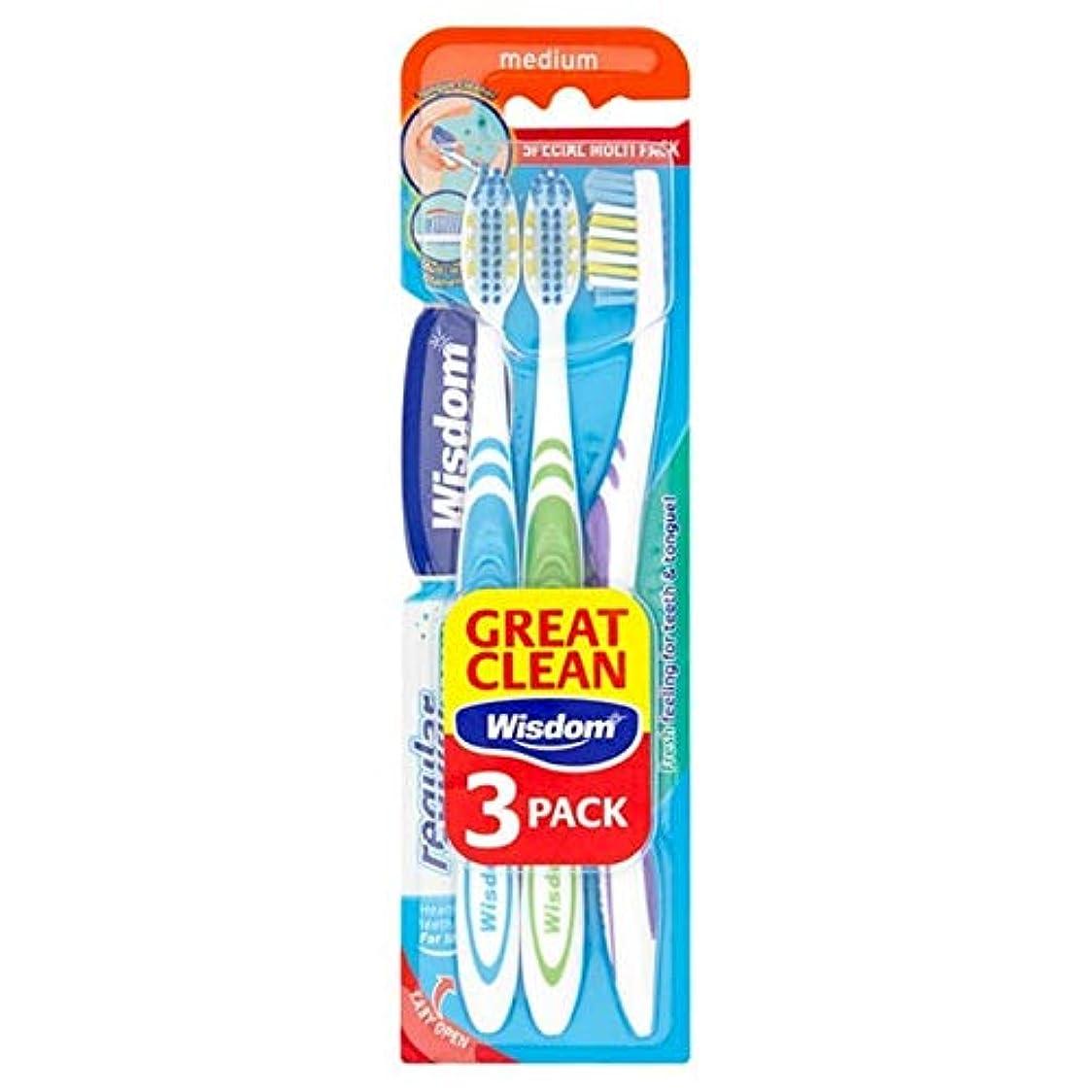 時々時々患者分類[Wisdom ] 知恵通常の新鮮な歯ブラシ会社トリプルパック - Wisdom Regular Fresh Toothbrush Firm Triple Pack [並行輸入品]