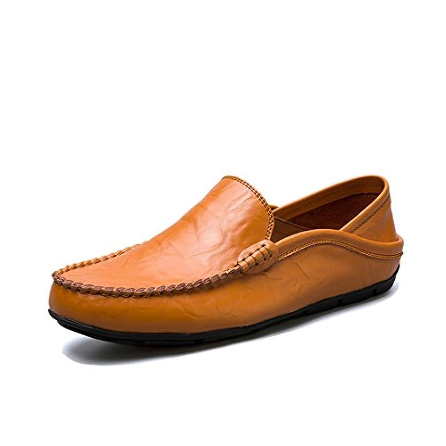 スパイラルオープナーレンダリングメンズ シューズ フラットシューズ ファッション  ローファー スリッポン 軽量 革靴 通気