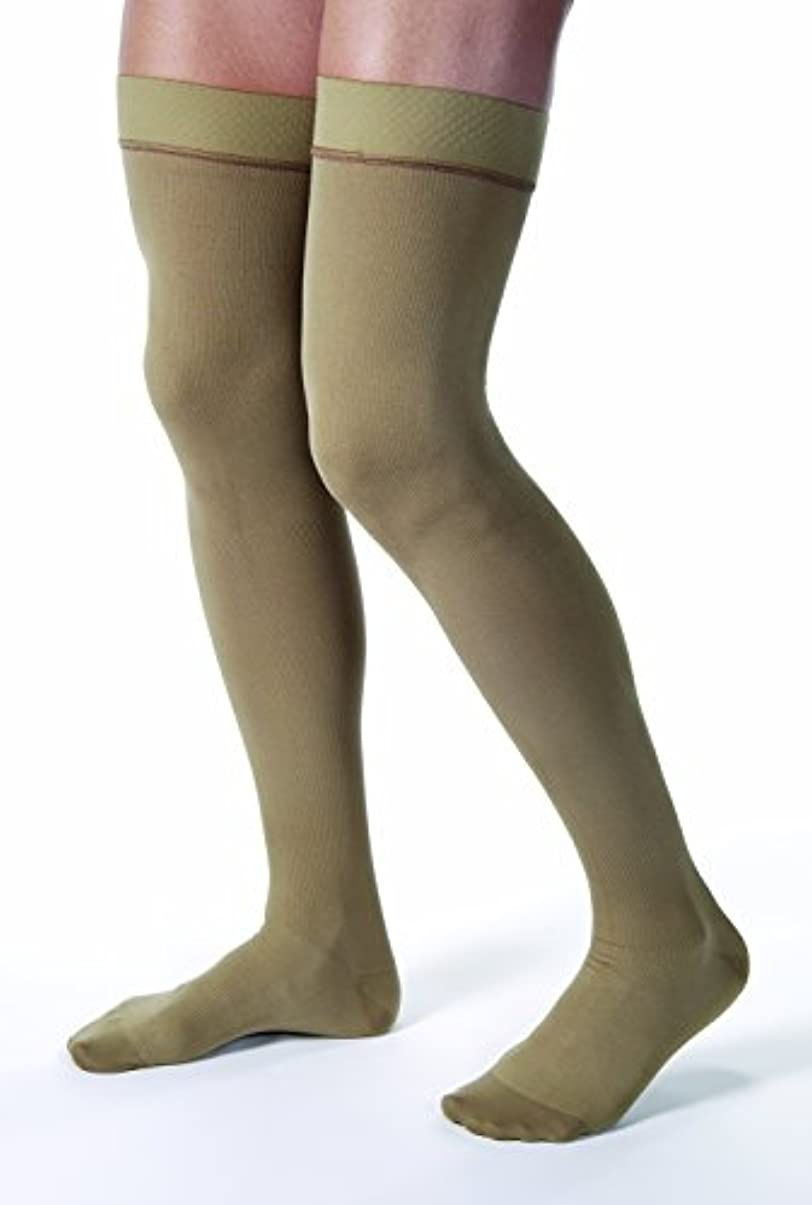 カレンダー王朝疑い者Jobst 115400 Mens 20-30 mmHg Closed Toe Thigh High Support Socks - Size & Color- Khaki Small