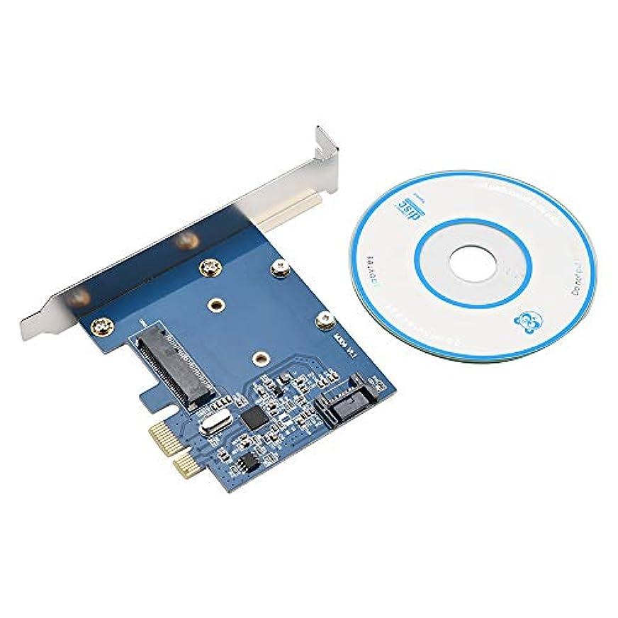 事動く腸Goodtrade81 PCIe - MSATA SSD & SATA3.0 コンボ拡張カード PCI Expressコントローラー - ブルー