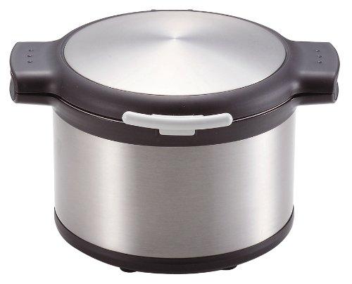 エコック 真空保温調理鍋3.2L H-8098 [ステンシルバー]