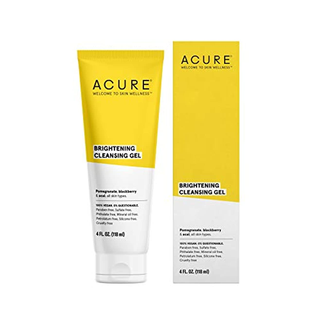 乱れ法令ラッカスACURE社 Facial Cleanser スーパーfruit + Chlorella 4オンス