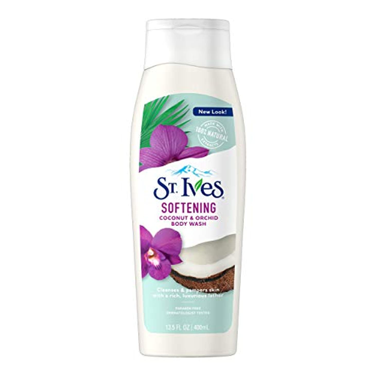 ブラウザ不誠実適応的St. Ives Body Wash Indulgent Coconut Milk 400 ml by St. Ives