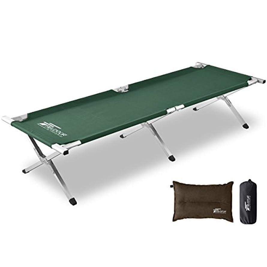 連鎖予言する仲良しFIELDOOR アウトドアコット アルミ キャンプベッド ベンチ 折りたたみ式 簡単 コンパクト