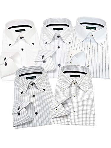 GREENWICH POLO CLUB(グリニッジポロクラブ) 長袖ワイシャツ 5枚セット メンズ B07KLYMYSH 1枚目