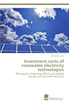 Investment costs of renewable electricity technologies: The impact of learning effects and volatile energy and raw material prices