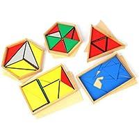 構成三角形5箱セット - モンテッソーリ感覚教育 Montehippo.com