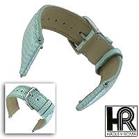 Hadley Roma lsil10618mm Light Green Genuine Java Lizard Watchバンド女性用