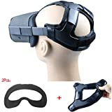 Esimen Head Strap Pad for Oculus Quest Headset Face VR Cover with Comfortable Silicone Surface & Soft Foam Pad (Blue Cover+Pad)