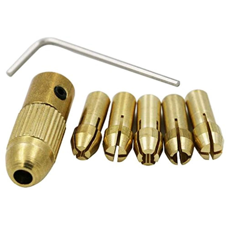 omkuwl 0.5 – 3 mm小型電動ドリルビットコレットドリルチャックセットでアレンレンチゴールド3.17 MM