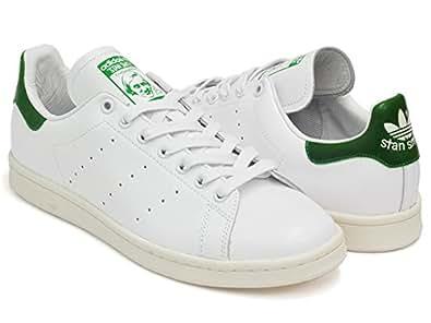 (アディダス) adidas STAN SMITH [スタンスミス ガラスレザー] FTWWHT / FTWWHT / GREEN b24364 28.0(10)US [並行輸入品]