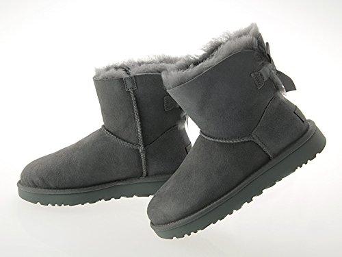 [アグ] ムートンブーツ ミニ ベイリーボウ Mini Bailey Bow II レディース 1016501-GREY グレー Grey US7(24cm) Classic Boot シープスキン 本革 ショート丈 シューズ Women's [並行輸入品]